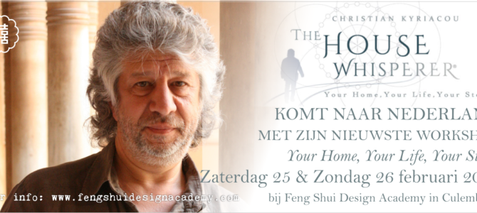 2-daagse workshop YOUR HOME, YOUR LIFE, YOUR FUTURE, met Christian Kyriacou – The House Whisperer