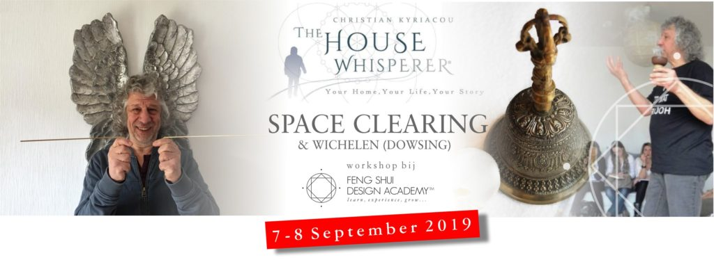 Workshop Space Clearing and Dowsing wichelen 2019 met Christian Kyriacou The House Whisperer