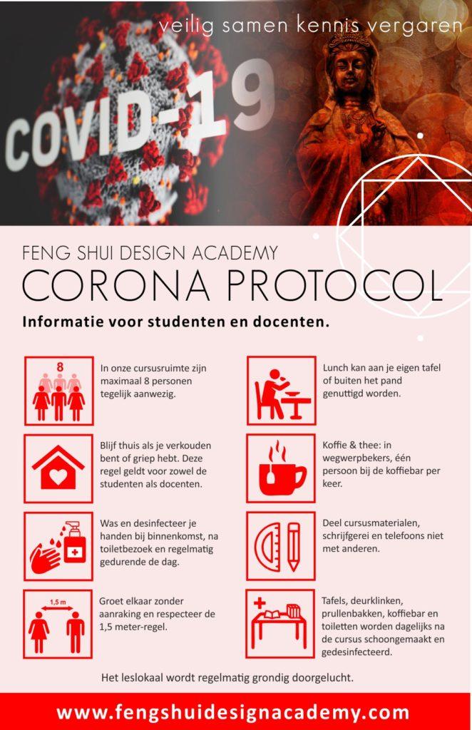 Corona protocol Feng Shui opleidingen - Feng Shui Design Academy