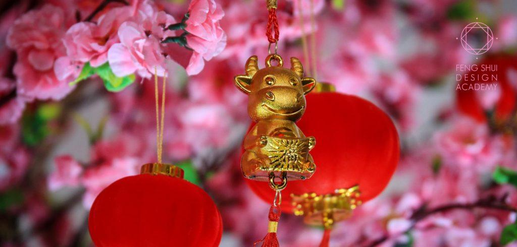 2021 Chinees Nieuwjaar van de metaal Os Feng Shui